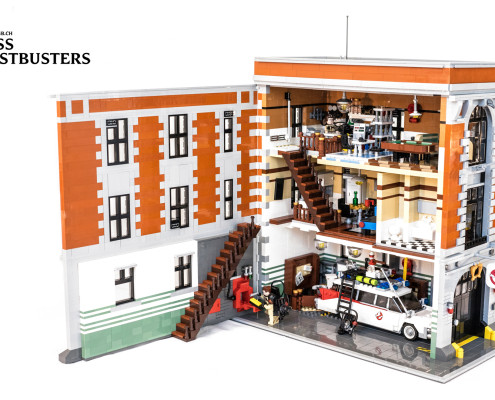 Lego Ghostbusters Firehouse Headquarters V2 By Sergio Herencias